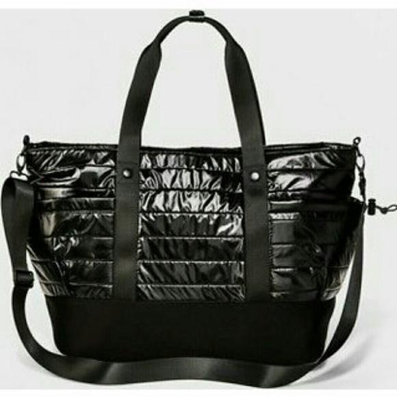 Joy Lab Handbags - JoyLab by Target Black Shine Gym Bag 2b569efdc96db